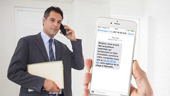 La prospection SMS: non concernée par la loi Bloctel - © D.R.