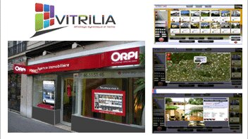 Vitrilia dynamise les vitrines des agences - D.R.