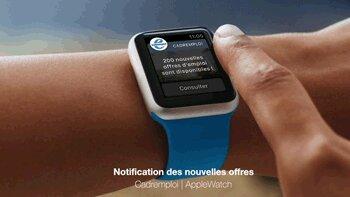 Cadremploi rend son application accessible sur l'Apple Watch - D.R.