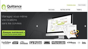 Quittance.com propose des services en ligne aux propriétaires - © D.R.