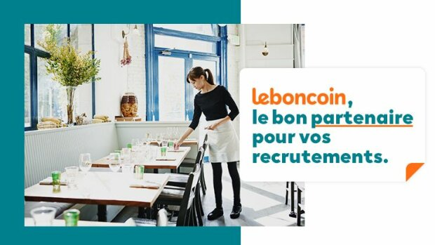 leboncoin, le bon partenaire pour vos recrutements dans l'hôtellerie, la restauration et le tourisme - © D.R.