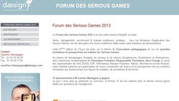 Forum des Serious Games: cap sur l'innovation pédagogique - D.R.