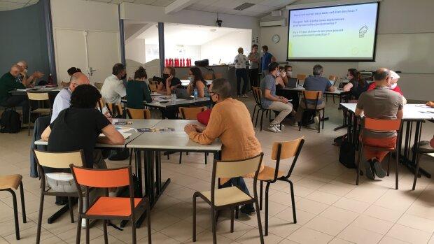 La conférence-atelier du LUCAS s'est tenue sur l'Île de Piot le 12 juillet dernier à Avignon. - © Fédération AVD
