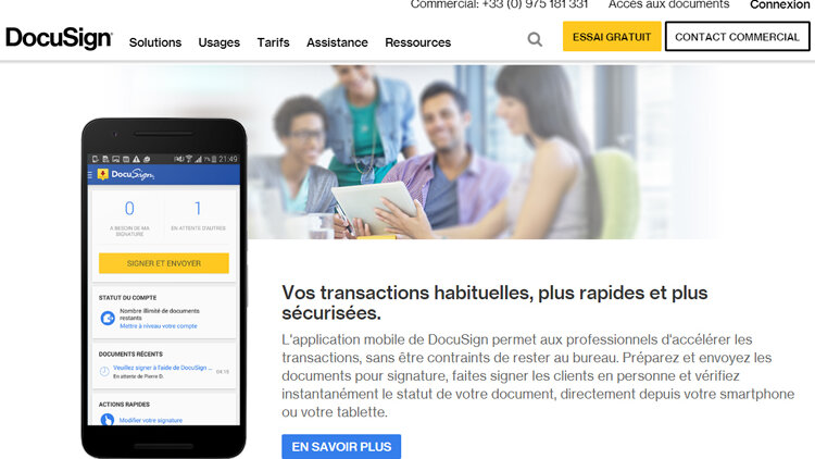 DocuSign devient membre de la FNAIM Grand Paris - D.R.