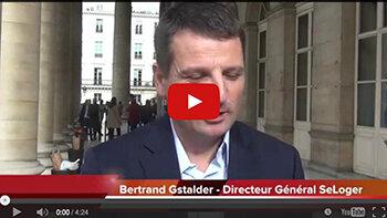 4 min 30 avec Bertrand Gstalder, DG du groupe SeLoger - D.R.