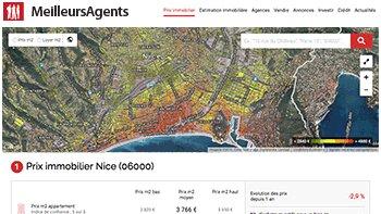 MeilleursAgents améliore sa rubrique «Prix immobilier» et multiplie par 4 la visibilité de ses agenc - © D.R.