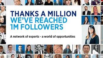 Un million d'abonnés sur LinkedIn pour Hays - © D.R.