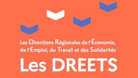 Suivez la formule de la transformation de l'Etat en territoire: DIRECCTE + DRCS = DREETS - © Ministère du Travail, de l'Emploi et de la Réinsertion