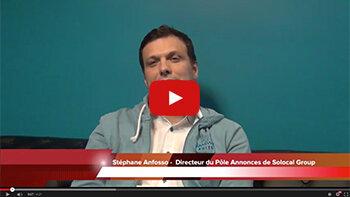 4 min 30 avec Stéphane Anfosso, DG du pôle annonces de Solocal Group - D.R.
