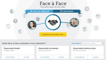 """Viadeo lance """"Face à Face"""": une plateforme de rencontre par métiers - D.R."""