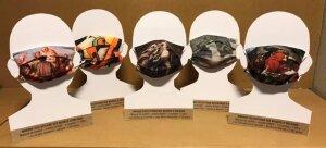 Des masques édités pour l'occaion, sur lesquels sont reproduits des œuvres d'artistes orléanais du Musées des Beaux Arts.