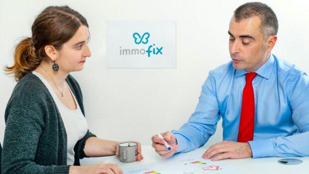 A droite: Guillaume Angles, fondateur d'Immofix - © D.R.