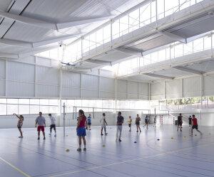 Projection de l'un des gymnases du COUM. - © Photos © S.Chalmeau