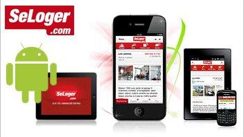 2 millions de téléchargements pour l'application SeLoger.com - D.R.