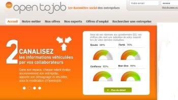 Opentojob: un baromètre social online - © D.R.