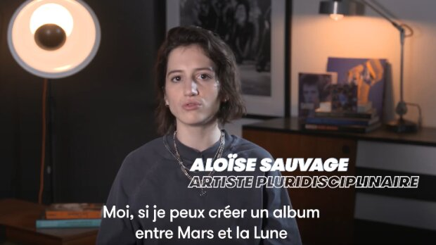 L'artiste Aloïse Sauvage dans le premier «Rendez-Vous Demain» en ligne du Printemps de Bourges. - © D.R.