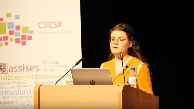 Alice Thorel, Renater, aux Assises 2019 du CSIESR - © D.R.