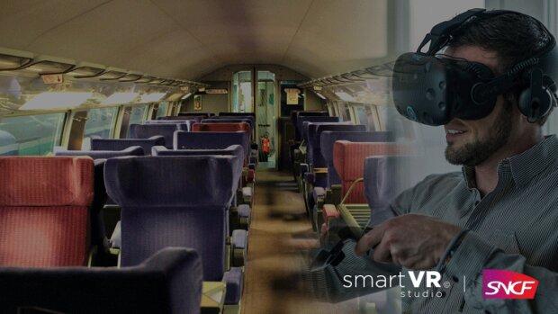 La SNCF se forme aux risques incendies avec la réalité virtuelle - © D.R.