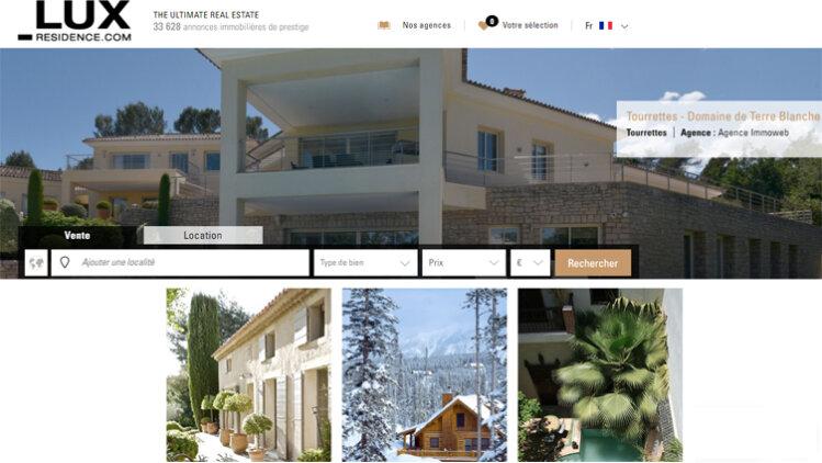 Les codes du luxe transposés sur Lux-Residence.com - D.R.