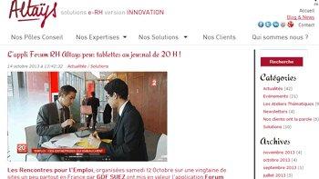 Altays lance une application sur tablette dédiée aux forums de recrutement - D.R.