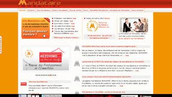 Info-mandataire: un réseau social dédié aux mandataires immobiliers - © D.R.