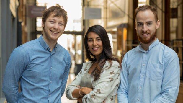 L'équipe dirigeante de Supermood: Kevin Bourgeois (CEO), Neila Choukri (COO) et Robin Nicollet (CTO) - © D.R.