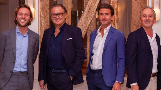 Leonard Cesari, Marc Foujols, Sébastien Kuperfis et Hugues de La Morandière - © D.R.