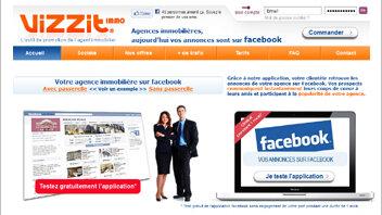 Avec Vizzit Immo, publiez en toute simplicité vos annonces sur Facebook - © D.R.