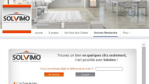 Solvimo continue d'investir sur Facebook - © D.R.