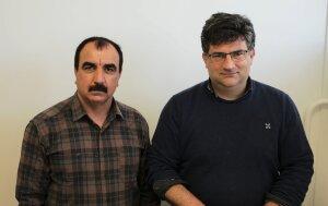 Haji Shallal et son directeur de thèse, Régis Pommier - © Marine Dessaux