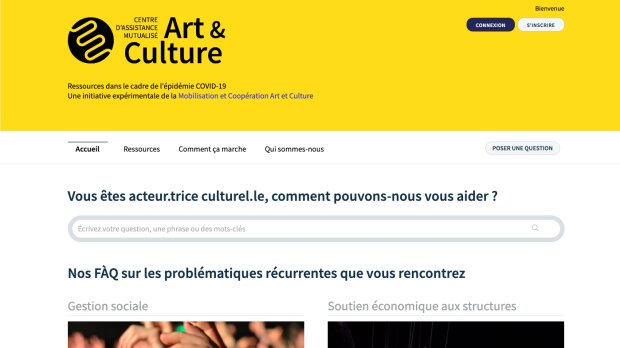 La plateforme CDAMAC répond à toutes les questions du secteur culturel en période de crise sanitaire - © D.R.