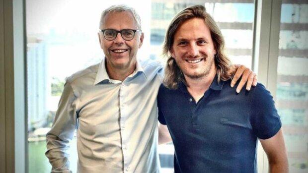 Michel Combes, président de SoftBank Group International, et Loïc Soubeyrand, CEO de Swile - © D.R.
