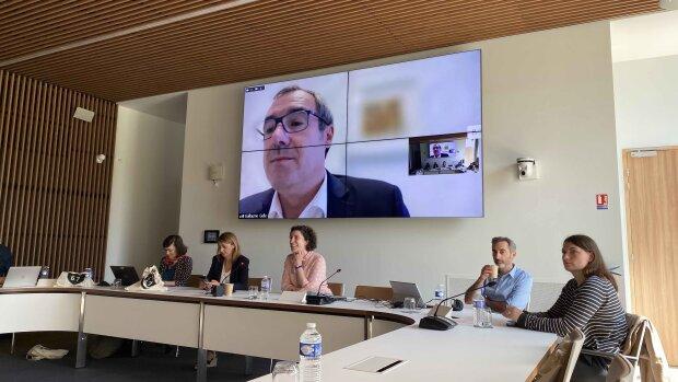 Réunion de Dircab ESR à Reims avec une intervention de G. Gellé, président de l'Urca et VP de la CPU - © Théo Haberbusch / News Tank