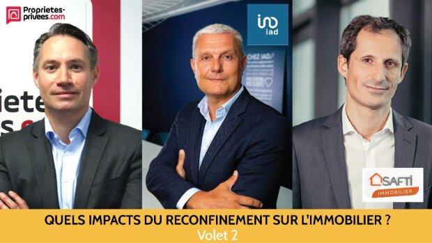 Michel Le Bras (Propriétés-privées.com), Olivier Descamps (IAD France) et Gabriel Pacheco (Safti) - © D.R.