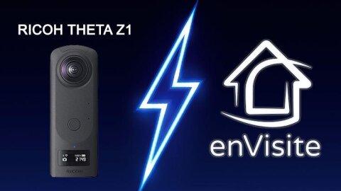 Ricoh Theta Z1 et enVisite, la réalisation de visites virtuelles au summum -