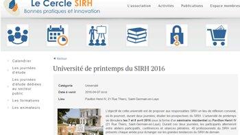 Agenda : Rendez-vous les 7 et 8 avril pour la 4e édition de l'université de printemps du Cercle SIRH - D.R.