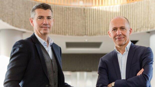 Le bilan 2020 chez HelloWork avec François Leverger (DG) et Jérôme Armbruster (Président) - © david ferrière photographe