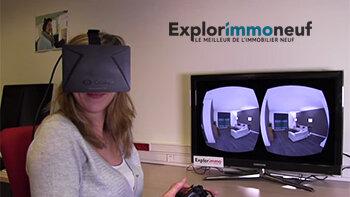 Explorimmoneuf parie sur Oculus, un casque connecté pour les visites virtuelles - D.R.