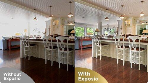La technologie Exposio permet notamment de renforcer la luminosité des pièces photographiées - © D.R.