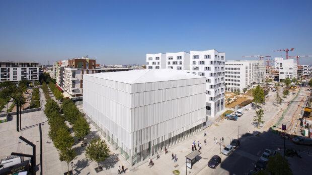 Les nouveaux bâtiments du Campus Condorcet qui entend jouer un rôle de fédérateur des SHS. - © Vincent Bourdon