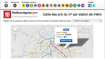 MeilleursAgents lance une carte des prix immobiliers par station de métro - © D.R.