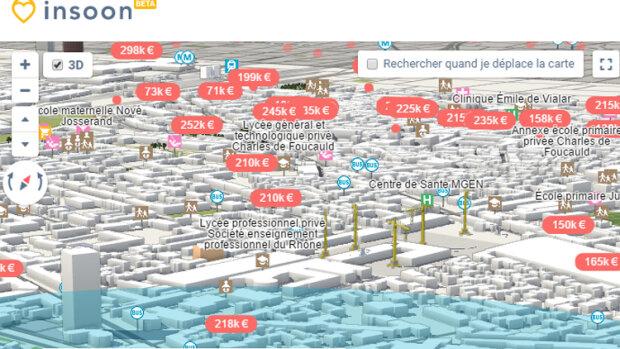 Nexity lance un nouveau portail immobilier 3D: Insoon - © D.R.