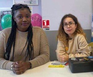 Aïcha Salami et Elsa Barteau sont impliquées dans le club DDRS de Polytech Paris-Saclay - © D.R.