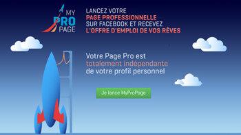 Un profil pro sur Facebook? Enfin possible avec MyProPage - © D.R.