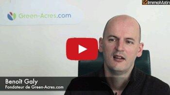 3 min avec Benoît Galy, fondateur de Green-Acres.com - D.R.