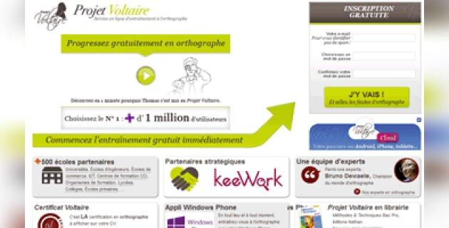 Formation en orthographe: déjà 1,3 million d'utilisateurs pour le projet Voltaire - D.R.