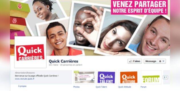 Quick Carrières arrive sur Facebook - D.R.