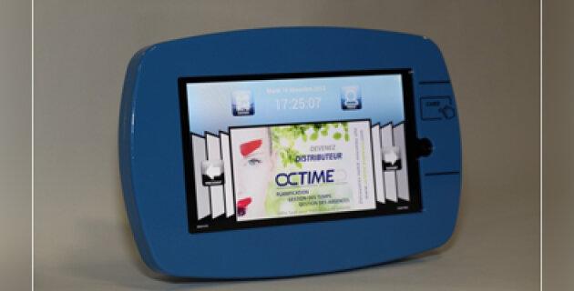 Octime Pop, la badgeuse interactive dotée d'un accès multimédia - D.R.