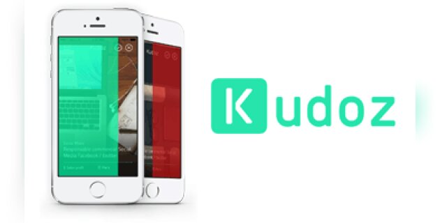 kudoz  l u2019application mobile qui swipe les offres d u2019emploi