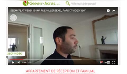 Le portail Green-Acres intègre la vidéo 360° dans ses annonces